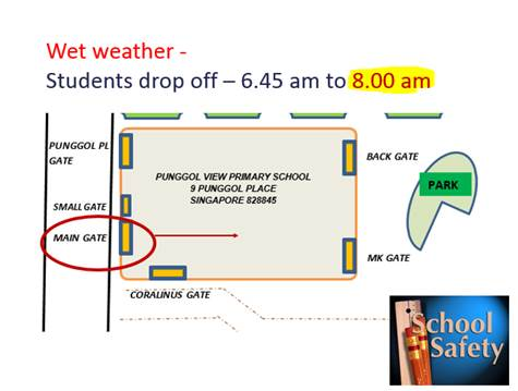 Wet Weather - Students Drop Off Point